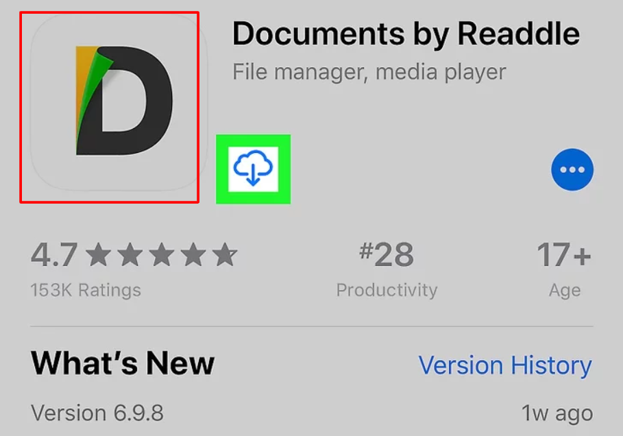 Documents app in iPhone
