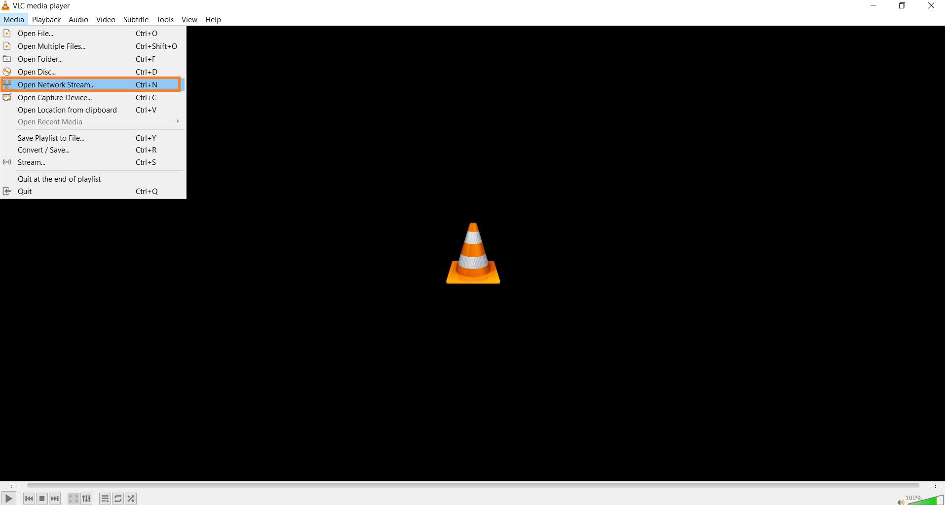 VLC media network stream