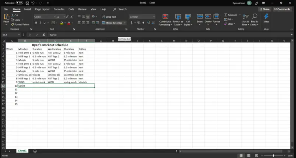 Excel-merge across 1