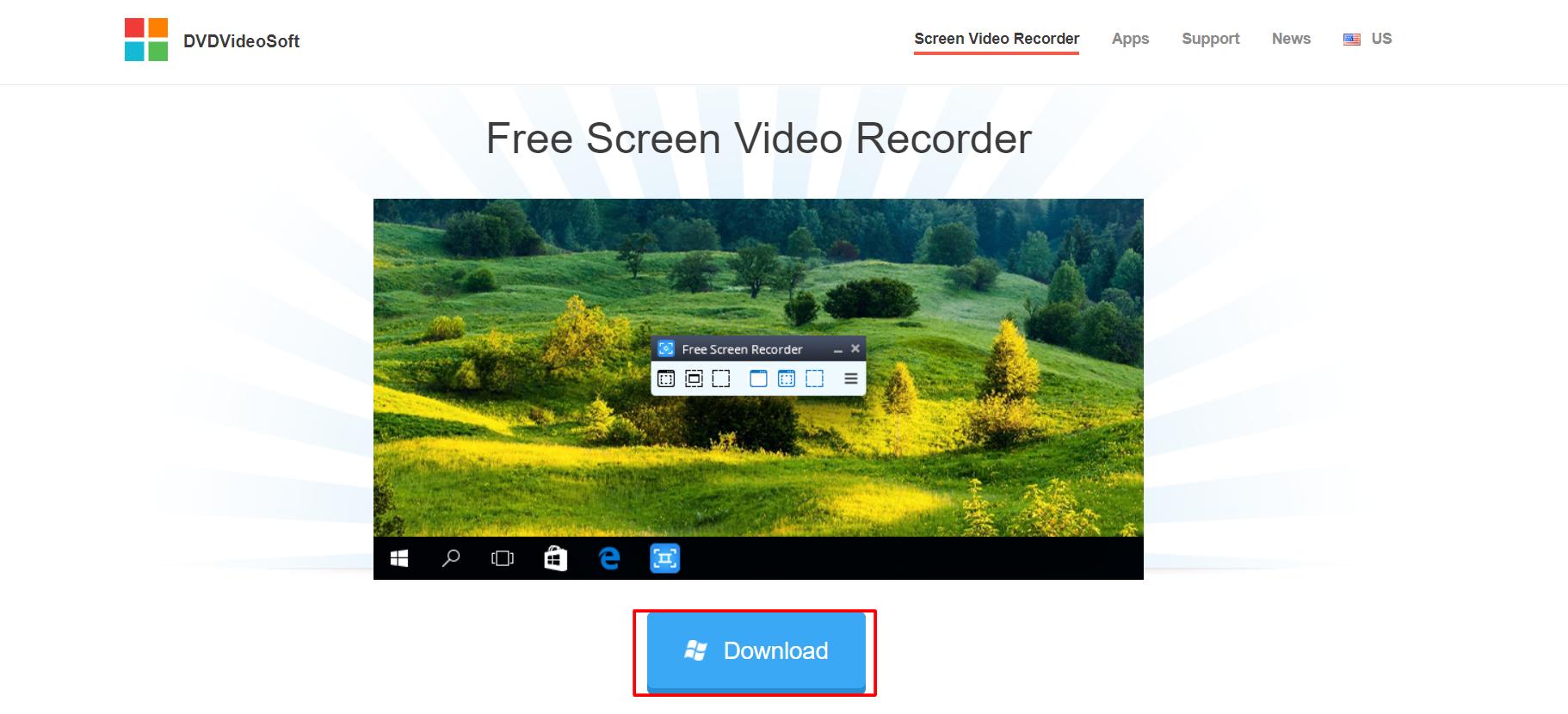 Free Screen Video Recorder bu DVDVideoSoft