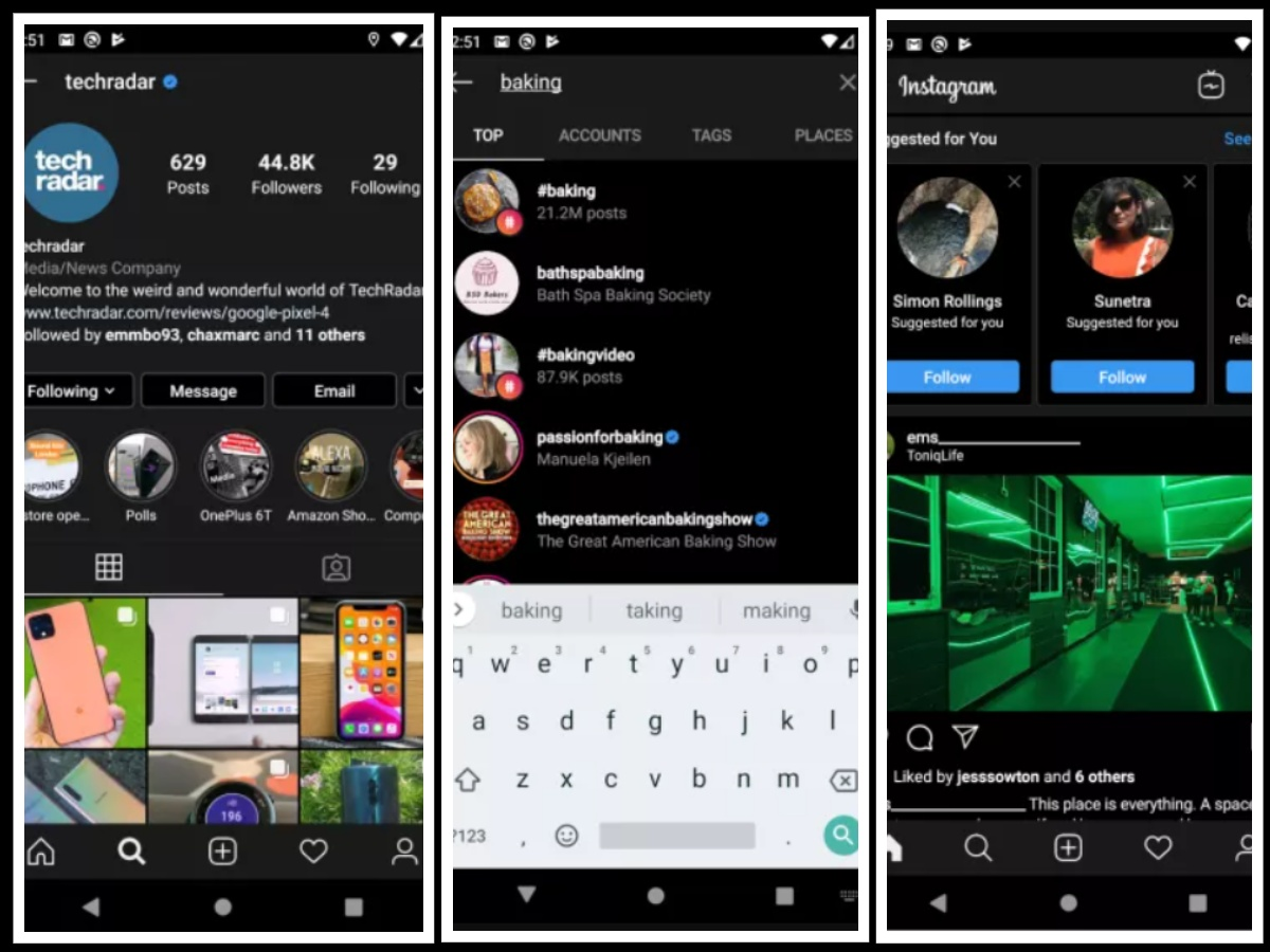 Enable dark mode on instagram in Android