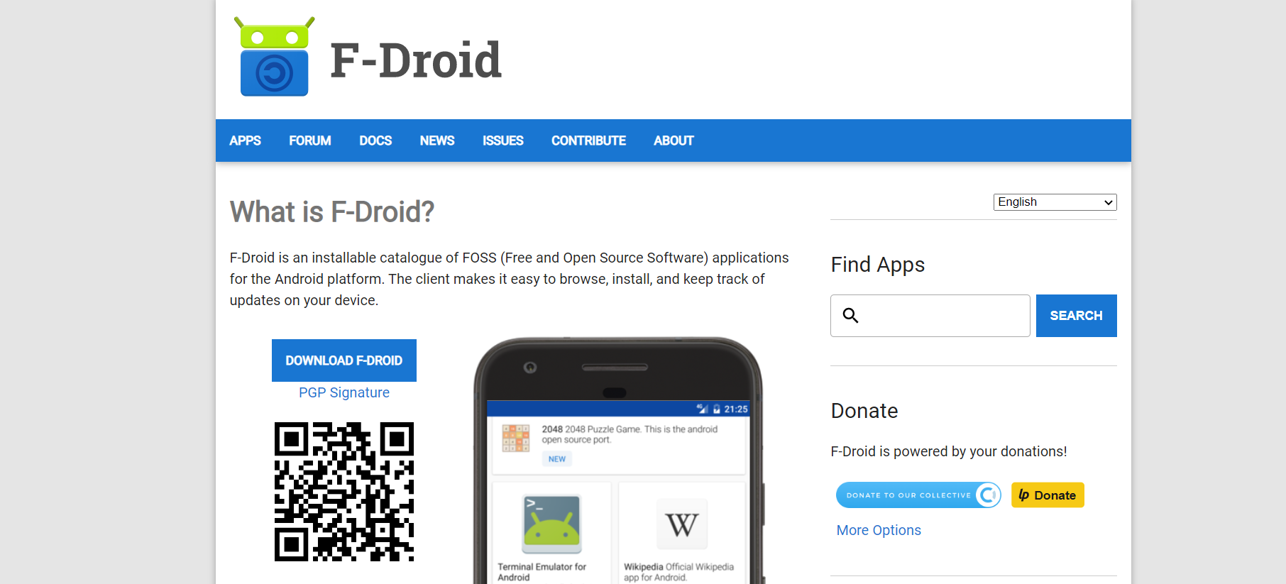 F-Droid app store for android