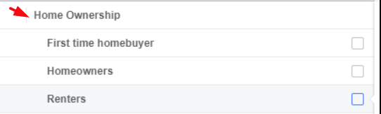 Facebook ads home ownerships