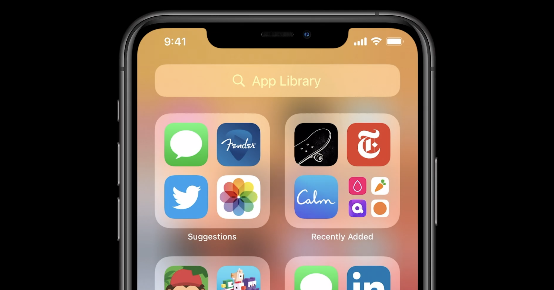 iOS 14 App Library and Interface