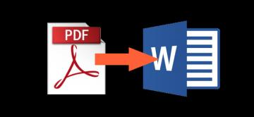 How to convert a PDF into word documents using Acrobat DC, Word and Google Docs?