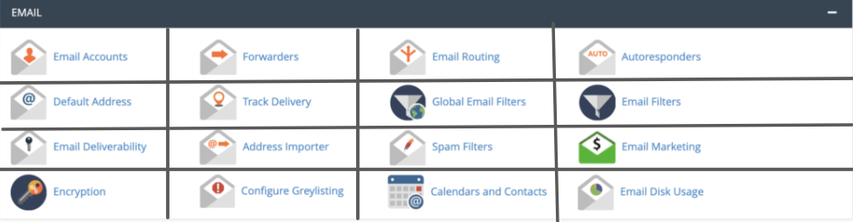 Email module in cPanel