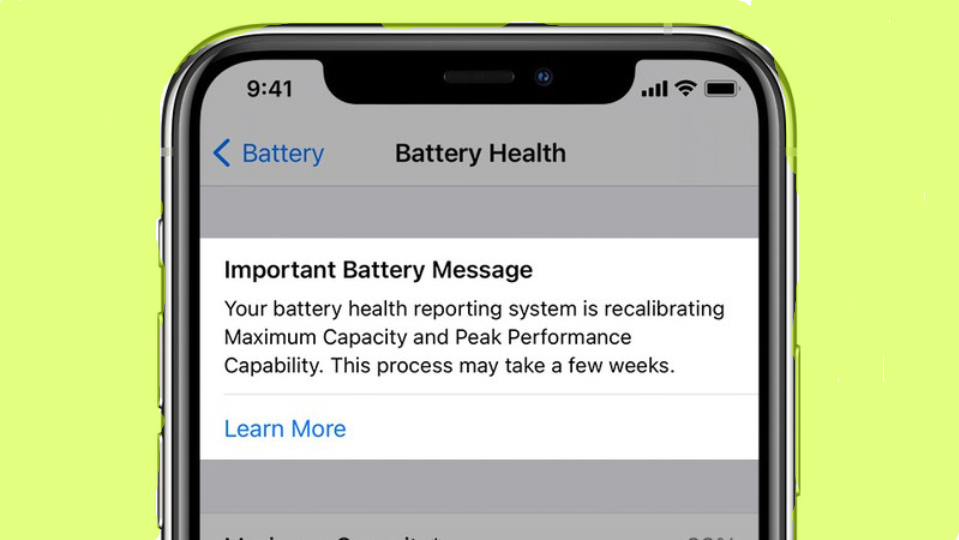 Recalibrating battery health in iOS 14.5