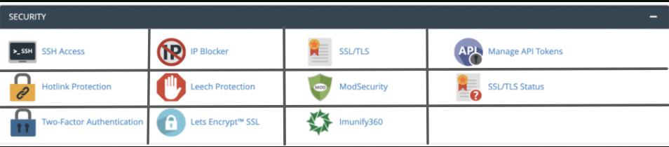 Security module in cPanel